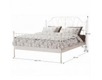 Kovová manželská posteľ s roštom Behemoth 160 - biela