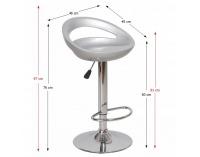 Barová stolička Dongo HC-104 New - sivá / chróm
