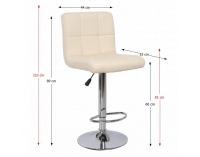 Barová stolička Kandy - béžová / chróm
