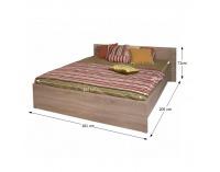 Manželská posteľ Grand 20 160 - dub sonoma
