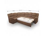 Rohová sedačka s rozkladom a úložným priestorom Amelia L - hnedá