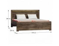 Manželská posteľ s roštom Infinity 19 160 - jaseň tmavý