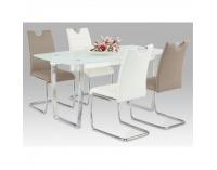 Jedálenská stolička Abira New - svetlosivá / chróm