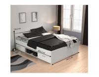 Manželská posteľ s úložným priestorom Michigan 140 - biela