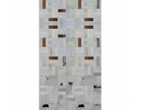 Kožený koberec Typ 1 120x180 cm - vzor patchwork