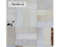 Kožený koberec Typ 1 70x140 cm - vzor patchwork