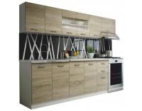 Kuchyňa Promo 260 - dub sonoma / biela
