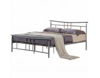 Kovová manželská posteľ s roštom Dorado 160 - matná strieborná