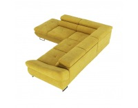 Rohová sedačka s rozkladom a úložným priestorom Fabia L - horčicová