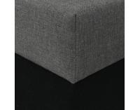 Rohová sedačka s rozkladom a úložným priestorom Luneta L/P - čierna / svetlosivá