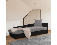 Jednolôžková posteľ (váľanda) Judit P - čierna / vzor (M35)
