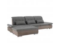 Rohová sedačka s rozkladom Sentina L - sivohnedá / hnedá