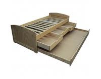 Drevená posteľ s prístelkou Marinella 90 - prírodná