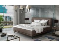 Čalúnená manželská posteľ Ancona 140 - hnedá