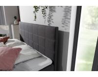 Čalúnená manželská posteľ s úložným priestorom Anzia 140 - čierna (Soft 11)