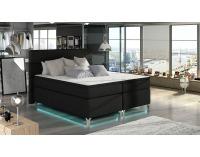 Čalúnená manželská posteľ s úložným priestorom Avellino 140 - čierna (Sawana 14)