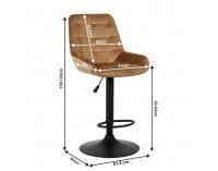 Barová stolička Chiro - hnedá
