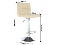 Barová stolička Kandy New - béžová / chróm