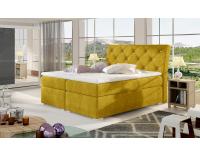 Čalúnená manželská posteľ s úložným priestorom Beneto 180 - žltá