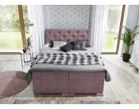 Čalúnená manželská posteľ s úložným priestorom Beneto 180 - svetlosivá (Omega 02)