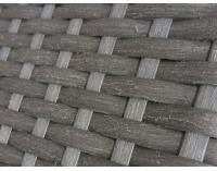Záhradná posteľ z umelého ratanu Umile - sivá / ecru