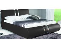 Čalúnená manželská posteľ Combi 160 - čierna