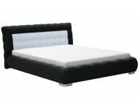 Čalúnená manželská posteľ Forrest 180 - čierna
