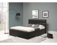 Čalúnená manželská posteľ Lionel B 180 - čierna