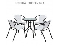 Záhradný stolík Borgen Typ 1 - čierna