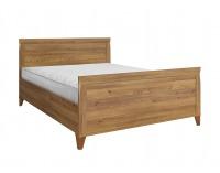 Manželská posteľ Bergen LOZ/160 - smrekovec sibiu zlatý