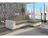 Rohová sedačka s rozkladom Caltanis L - cappuccino / tmavohnedá