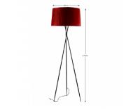 Stojacia lampa Cinda Typ 11 YF10R - čierna / červená