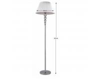 Stojacia lampa Cinda Typ 13 MEPIE - strieborná