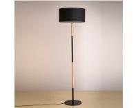 Stojacia lampa Cinda Typ 21 YF6046 - čierna / vzor dreva