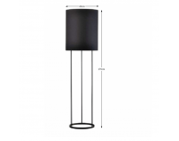 Stojacia lampa Cinda Typ 22 F7008 - čierna