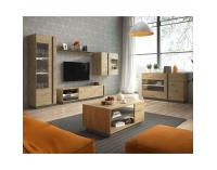 Obývacia izba City - dub artisan / sivý grafit