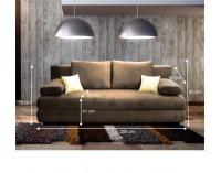 Rozkladacia pohovka s úložným priestorom Cliv - cappucino / béžová