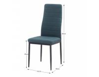 Jedálenská stolička Coleta Nova - smaragdová / čierna