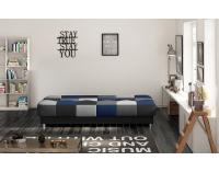 Rozkladacia pohovka s úložným priestorom Cosa - čierna / sivá / svetlosivá