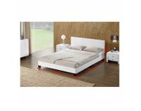 Čalúnená manželská posteľ s roštom Daneta 180 - biela / čierna