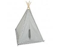 Detský stan (teepee) Etent - sivá / biela / vzor