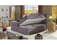 Čalúnená manželská posteľ s úložným priestorom Diana 140 - biela