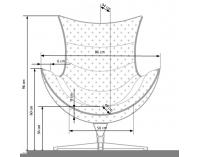 Dizajnové otočné kreslo Luxor - tmavozelená