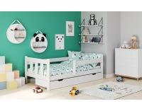 Drevená posteľ s prísteľkou Marinella 80 - biela