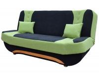 Rozkladacia pohovka s úložným priestorom Ella II - čierna / zelená