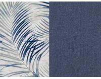 Rozkladacia pohovka s úložným priestorom Real - vzor / modrá