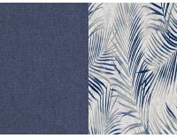 Rozkladacia pohovka s úložným priestorom Real - modrá / vzor