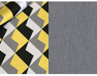 Rozkladacia pohovka s úložným priestorom Real - vzor / sivá