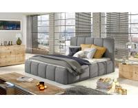 Čalúnená manželská posteľ Evora 160 - svetlosivá