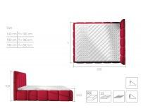 Čalúnená manželská posteľ Evora 140 - sivá (Berlin 01)